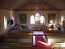 Blåviks kyrka interiör mot altaret