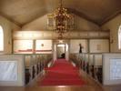 Blåviks kyrka interiör mot läktare