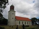 Smedby kyrka. Sedd från syd väst.