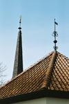 Karaby kyrka, kor - och torntak. Neg.nr 03/166:13