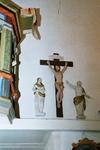 Sankta Marie kapell. Calvariegrupp på östra långhusväggen. Neg.nr 03/102:11
