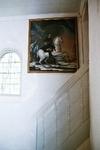 Sankta Marie kapell. Tavla av Karl XI på södra korväggen. Neg.nr 03/102:04