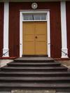 Fillinge tingshus, Linköpings kn, dörr till stora ingången.