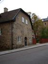 Stenhusgården, kv Eolus 1, Linköping, fasaden sedd från Storgatan, foto från nordost.