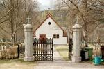 Myssjö kyrkogård, entré.