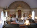 Mörsils kyrka, interiör, kyrkorummet sett från läktaren mot koret i öster.