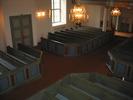 Mörsils kyrka, interiör, kyrkorummet, vy från predikstolen.