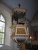 Mörsils kyrka, interiör, kyrkorummet, predikstolen.