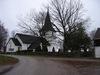 Kyrkan sedd från nordöst.