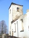 Kyrkan från SO. Före branden.
