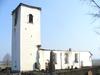Kyrkan från SV. Efter branden