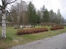 Ånge kyrkas kyrkogård, begravningsplatsen från nordväst.
