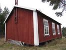 Berghamns kapell, exteriör, norra fasaden samt del av västra fasaden.
