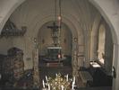 Dals kyrka, interiör, kyrkorummet, vy mot koret från läktaren.