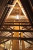 Fotot visar takkonstruktionen över södra korsarmen.